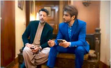 Imran Abbas with Babar Ali