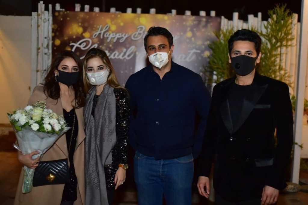 Sarwat Gillani with friends