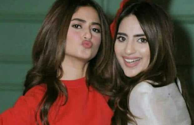 Saboor Aly with Sajal Aly