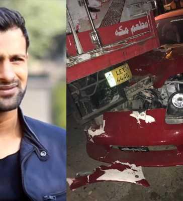 Shoaib Malik's sports car