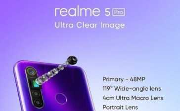 realme to Introduce 64MP Camera