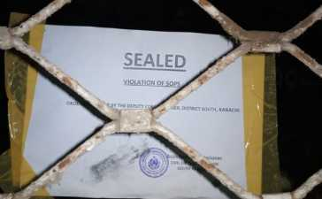 Gym facility in DHA sealed