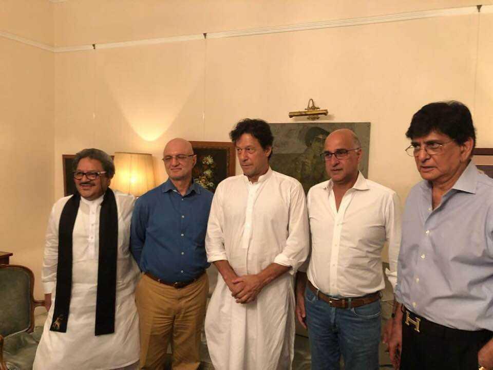 Babar Tajammul with Imran Khan