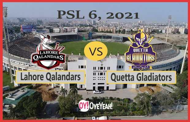 Lohore Qalandars vs Quetta Gladiators