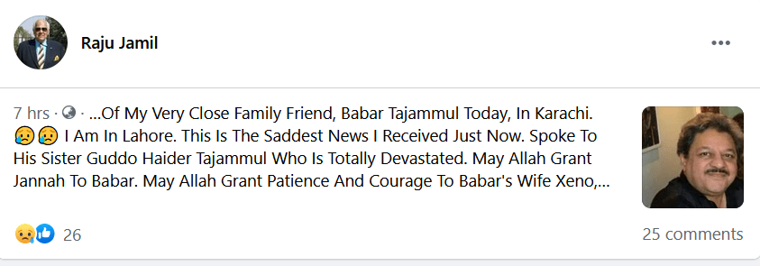 Raju Jameel tweets