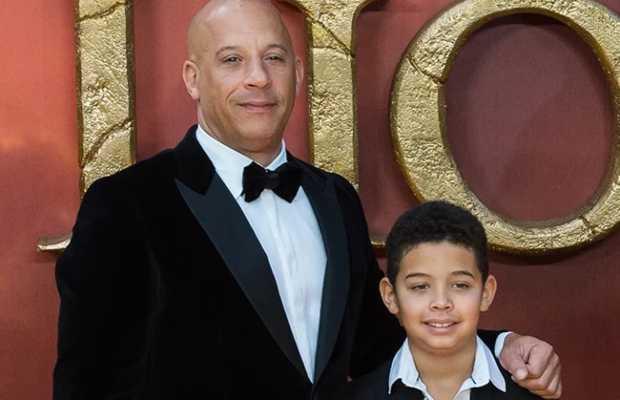 Vin Diesel wtih son
