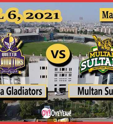 Quetta Gladiators vs Multan Sultans