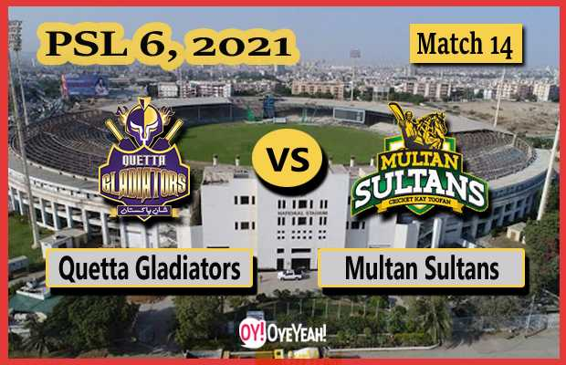 Quetta Gladiators vs Multan Sultans