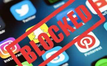 Govt. blocks social media