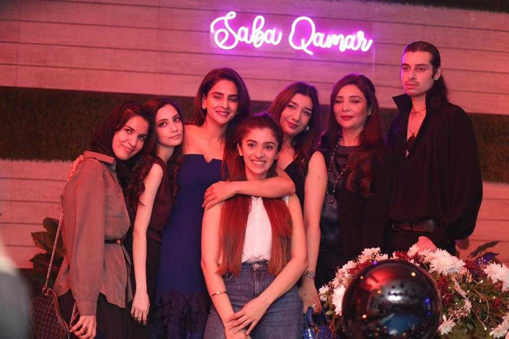 Saba Qamar with friends