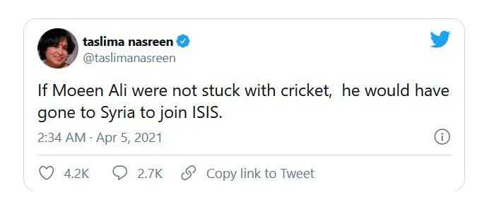 taslima nasreen tweet