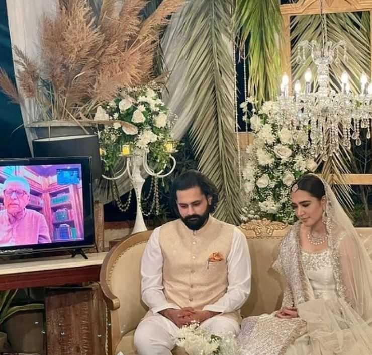 Mansha Pasha with Jibran Nasir