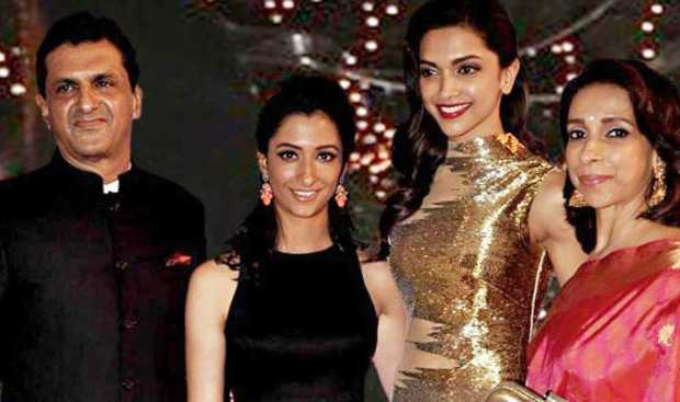 Deepika Padukone  with family