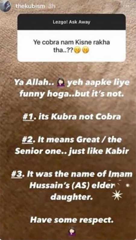 Kubra's post