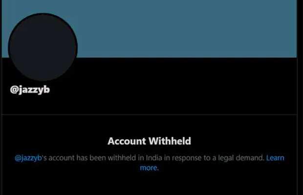 blocked account notification