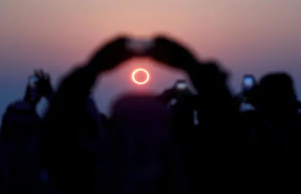 First solar eclipse