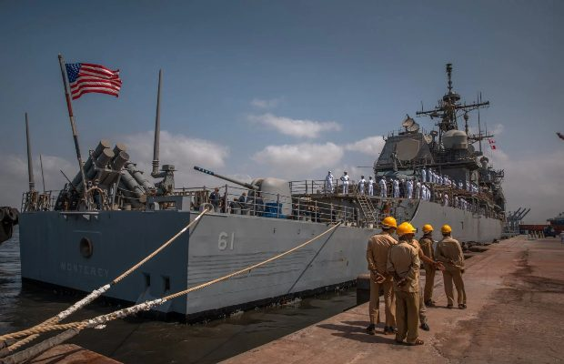 US guided-missile cruiser USS Monterey