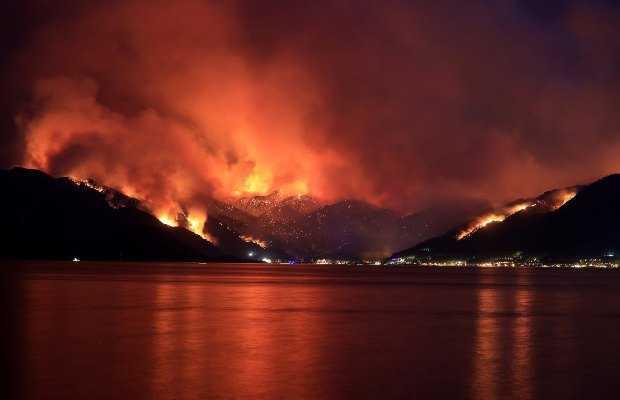 forest fires in Turkey
