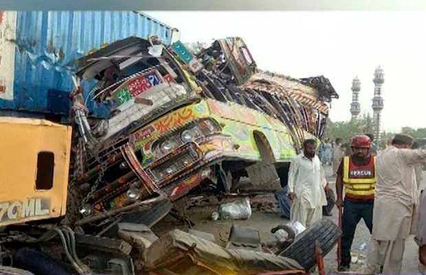 Bus-truck collision
