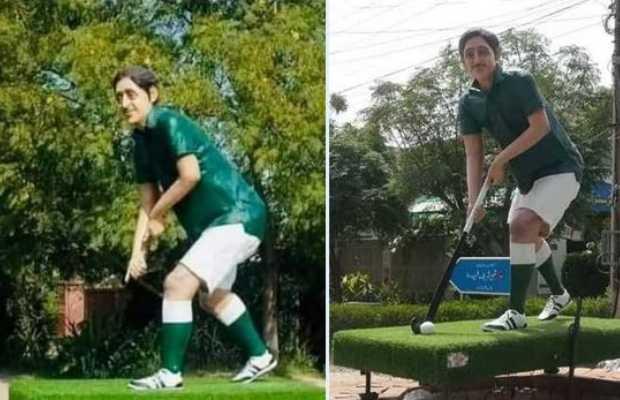 stolen hockey stick and ball