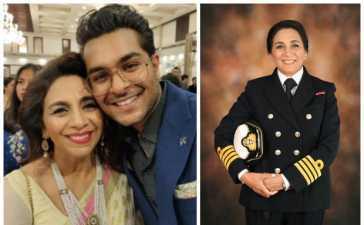 Asim Azhar's aunt in navy