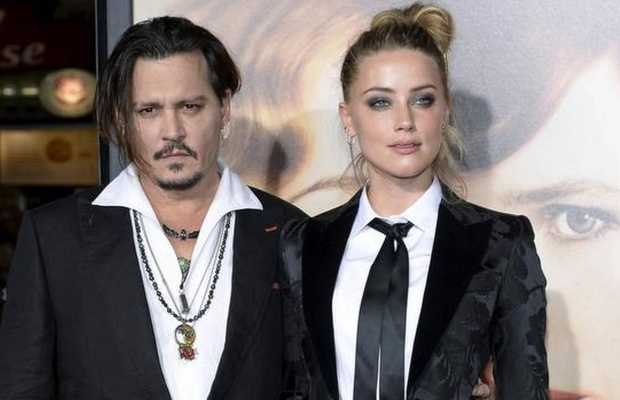 Johnny Depp along with Amber Heard