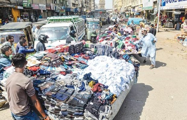 The flea market in Karachi's Sadar area