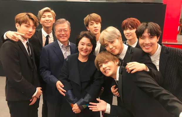 Moon Jae-in with BTS