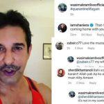 Wasim Akram's quarantine moustache disapproved by wife Shaniera