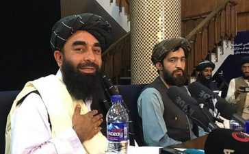 Taliban hold first press conference
