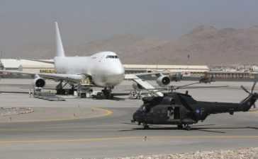 PIA plane at Kabul airport