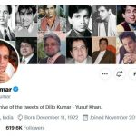 Dilip Kumar's official Twitter account will be deactivated