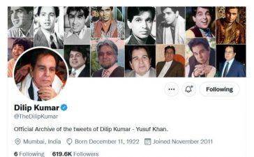 Dilip Kumar's official Twitter account