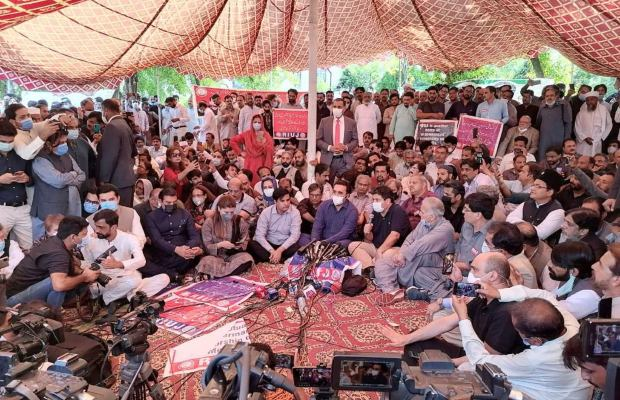 Journalists protest in Islamabad