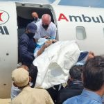 Umer Sharif departs for the US in air ambulance