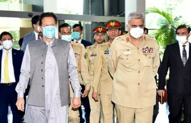 COAS Gen Bajwa with PM Imran