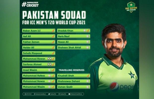 Pakistan's 15-player squad