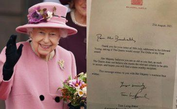 Queen Elizabeth II old age award